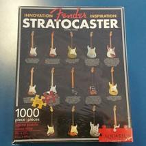 "Fender Stratocaster Guitar History 1000 Piece Puzzle By Aquarius 20""x27""... - $22.76"