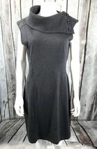 Women's Gray Spense Career Dress Wide Turtle neck, Sz 10 Sleeveless EUC - $14.84