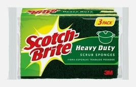 Scotch-Brite Heavy Duty SCRUB SPONGES Pad Multi-Purpose Tough Absorbent ... - $9.53