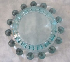 VTG IMPERIAL GLASS BLUE DEPRESSION CANDLEWICK PLATE TRAY ROUND DISH - $12.86