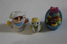 FP Little People Easter Bunny Figure Basket chocolate chicks Lot for train - $11.83