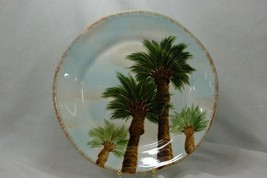 Tabletops Unlimited Baja Dinner Plate Stoneware Palm Trees - $13.85