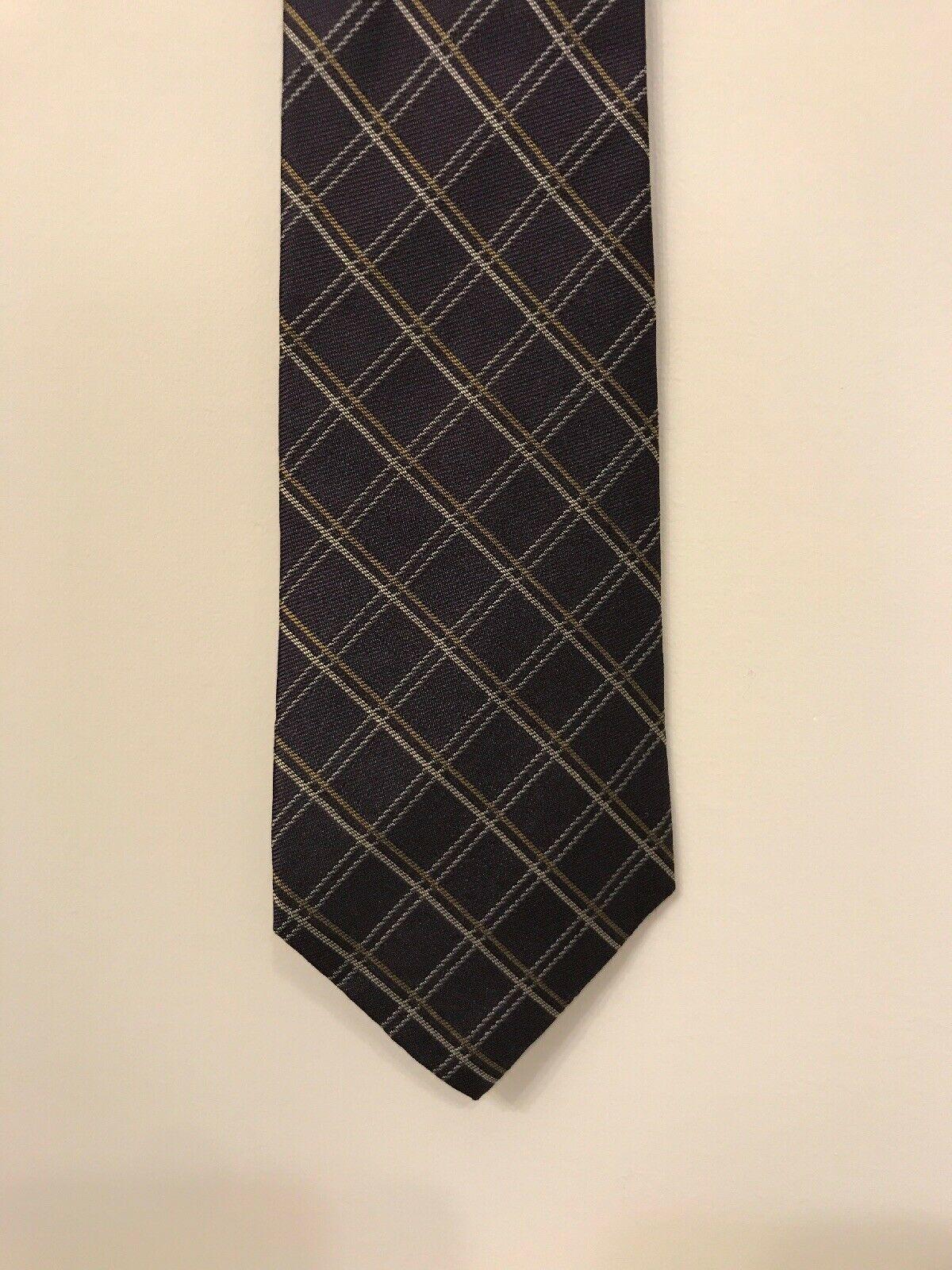 "Gap Men's Silk Tie Tartan Plaid 4""x 60"" Purple - $9.89"