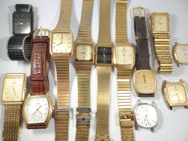 5 VINTAGE CITIZEN JAPAN AND 1 SWISS QUARTZ WATCH FOR RESTORATION OR PART... - $120.94