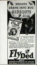 1936 Print Ad FLYded Insect Powder Midway Chemical Chicago,IL - $10.55