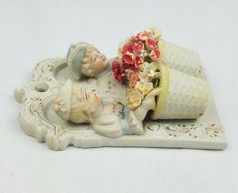 Vintage Chase Porcelaine Plaque Mural Peint Main Japon Occupé French Bisque image 3