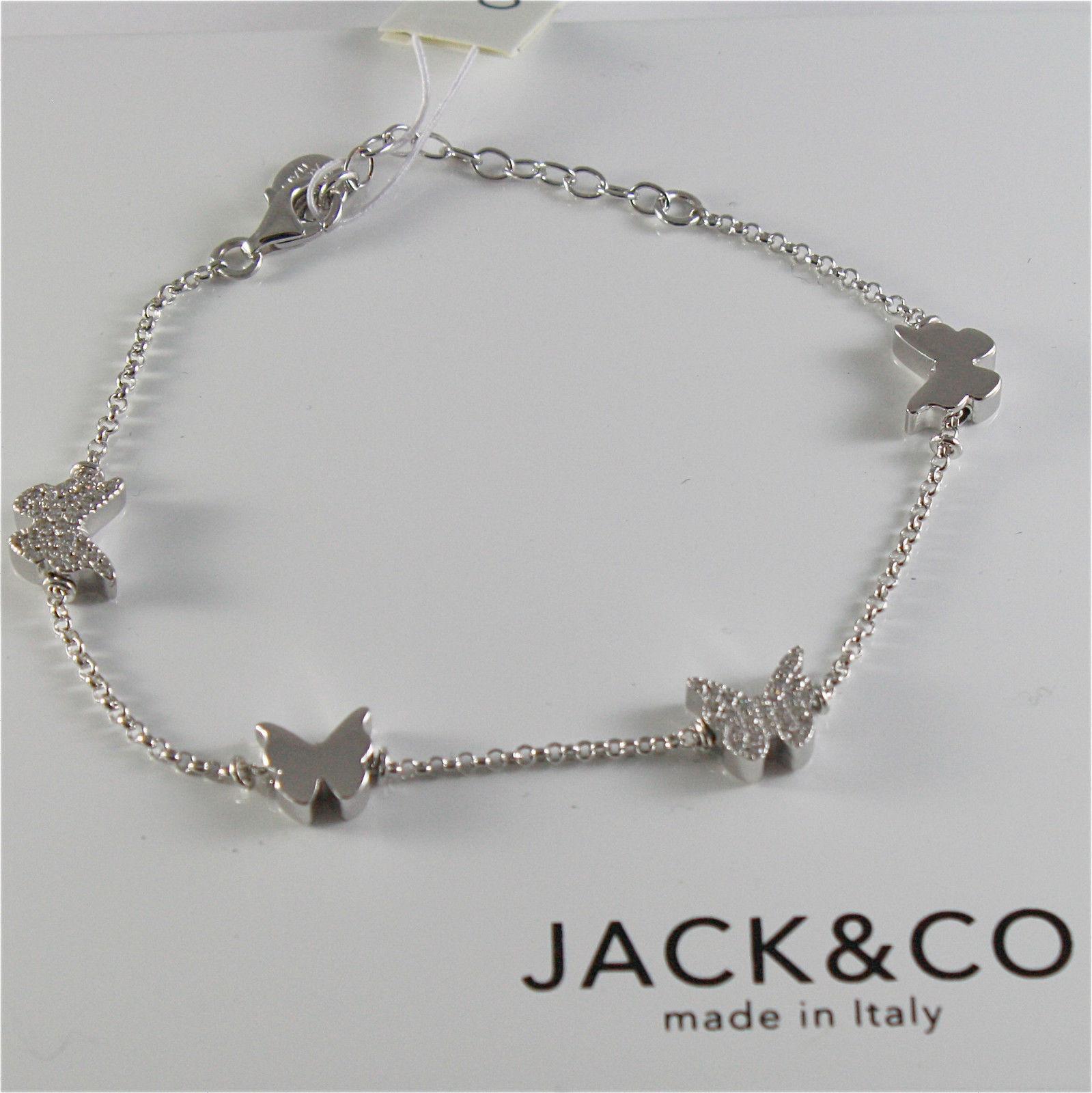BRACCIALE IN ARGENTO 925 JACK&CO CON FARFALLE E ZIRCONIA CUBICA JCB0741 19 CM