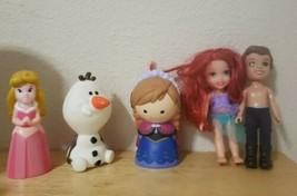 LOT OF 5 Disney Assorted Figures Toddler size - Frozen, Aurora, Ariel, Olaf - $1.99