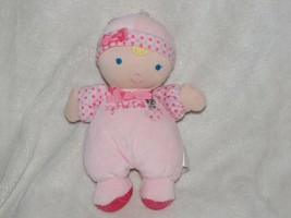 Carters Child of Mine Pink Baby Girl Doll My First Heart Dog Blue Dot Ra... - $49.49