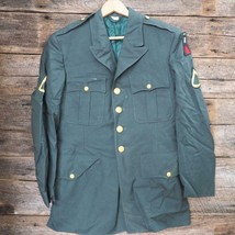 Vintage US Army Green Dress Jacket Coat First Army Class A Private Vietnam Era - $69.29