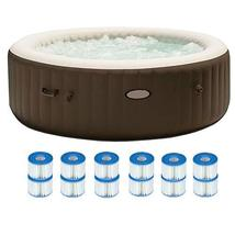 MRT SUPPLY Pure Spa 6 Person Portable Inflatable Hot Tub + 12 Filter Rep... - $1,371.90