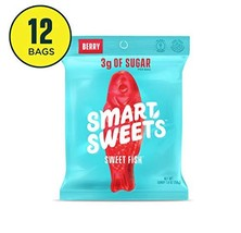SmartSweets Sweetfish 1.8 Oz Bags Box Of 12, Candy With Low-Sugar 3g & Low Calor