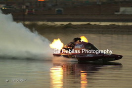 4x6 Color Drag Boat Photo Jerry Kutz PLUMB CRAZY Fuel Hydro Twilight @ F... - $3.00