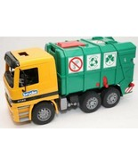 Bruder Recycling Truck 2001 Actros Mercedes Benz 4143 Trash Rear Loading... - $17.77