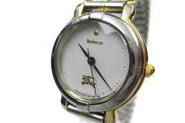 Authentic BURBERRYS White Dial Stainless Steel Women's Quartz Watch BW10... - $159.00