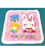 Vintage Sanrio Cheery Chums Pink Bunny Bear Terry Cloth Wash Rag Fabric ... - $10.95