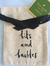 "Kate Spade Nwt Bits & Baubles Jewelry Bag 7 1/2""X 6"" Linen - $13.00"