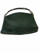 Hogan Women Green Leather Hobo Shoulder Purse Bag Made in Italy image 7