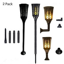Solar Light Waterproof Flickering Flames Torches Lights 96 LED Flame Lig... - $62.79