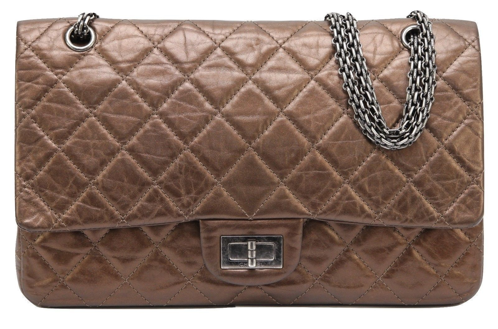 b97391d5acf1 CHANEL Bag Metallic Leather 2.55 Reissue 227 and 50 similar items