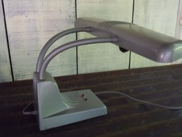 VTG MCM Industrial Dazor 1000 Adjustable Double Gooseneck Desk Lamp - $79.48