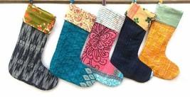Indian Handmade Recycled Vintage Kantha Christmas stockings Wholesale 5 ... - $48.99