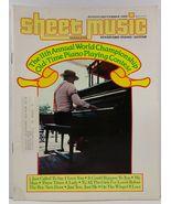 Sheet Music Magazine August/September 1985 Standard Piano/Guitar - $3.99