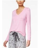 Alfani V neck long sleeve Rayon top Cali Pink,  Medium New - $9.85
