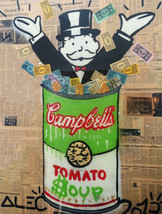 Alec Monopoly Oil Painting on Canvas graffiti art Campbell's Tomato Soup... - $21.77+