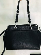 NWT Calvin Klein Sonoma Bubble Lamb Novelty Satchel Black $158 - $98.41