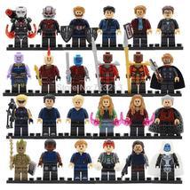 24pcs Super Heroes Avengers Infinity War Thanos Bruce Tony Peter Minifigure Lego - $32.99