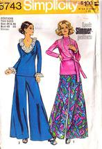 1973 Tops & Wide-Leg Pants Pattern 5743-s Women's Size 44-46 Uncut - $12.99
