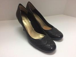 Etienne Aigner Seeker Size 7 Women's Shoe Brown Patent Leather High Heel US - $22.23