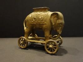 All Original A.C.WILLIAMS Golden Elephant On Wheels Cast Iron BANK 1920 - $295.00