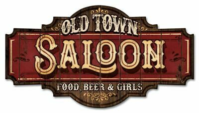 Old Town Saloon, Bar Alcohol Food and Beer Plasma Cut Metal Sign