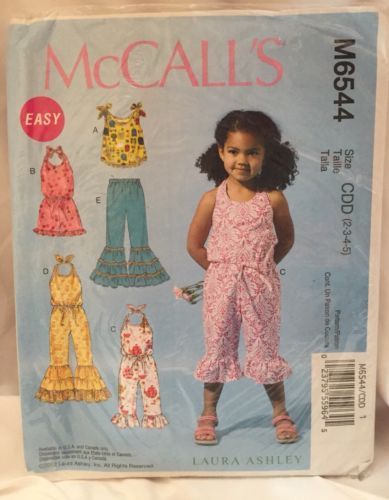 a2a4bd7b9390 McCall's M6544 CDD Girls 2-5 Romper Jumpsuit and 12 similar items