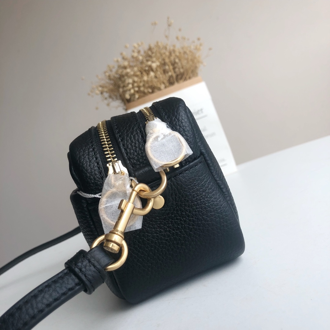 Tory Burch PERRY BOMBÉ Mini Bag Women Crossbody Small Handbag Leather Black