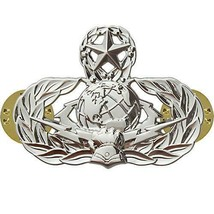 Mid Size Genuine U.S. Air Force (Usaf) Breast Badge: Cyberspace Support: Master - $16.81