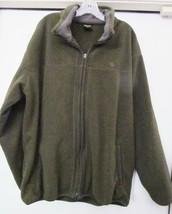 Nautica Competition Mens Fleece Jacket Coat Full Zipper Olive Green Size... - $39.94