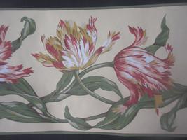"York Unpasted Floral Wallpaper Border 5 Yd X 9"" Mg 8252-B Usa - $2.35"