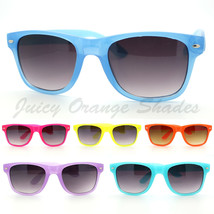 Bright Neon Fashion Unisex Old School Horn Rimmed Sunglasses 6 Colors - $6.95