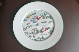 "New Lenox Sleighride Salad Plate 8"" Winter Holiday Design - $39.59"