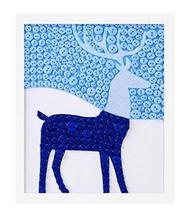 PANDA SUPERSTORE Creative Deer DIY Button Painting Mosaic Craft for Kids