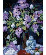 "Dimensions Needlepoint Kit 12""X16""-Tulips & Lilacs Stitched In Floss - $35.33"
