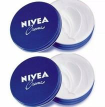 2 Can of 150 mL/ 5 Oz NIVEA CREAM Original Hand CREME moisturizer Metal ... - $12.82