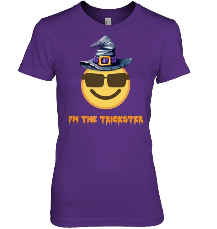 Funny Scary Im The Trickster Emo Halloween Tshirt