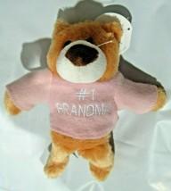 "#1 Grandma Plush Teddy Bear 9"" tall by Beverly Hills Teddy Bear Co. - $6.99"