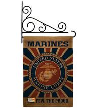 Marine Corps Burlap - Impressions Decorative Metal Fansy Wall Bracket Ga... - $36.97