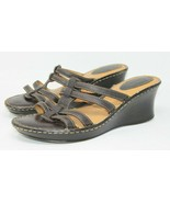 BOC Size 11 M Born Concept Women's Brown Leather Strappy Wedge Sandal BC... - $18.99