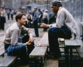 Shawshank Redemption Tim Robbins Morgan Freeman Vintage 22X28 Color Movi... - $37.95
